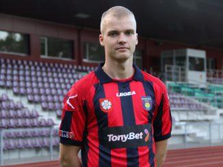 Lukas Baranauskas - įvarčio, išplėšusio tašką iš Palangos futbolo klubo, autorius.
